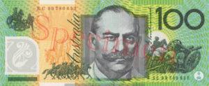Billet 100 Dollar Australien verso AUD verso