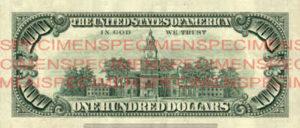Billet 100 Dollars Etats-Unis USD
