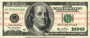 Billet 100 Dollars Etats-Unis USD