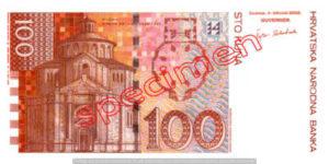 Billet 100 Kuna Croatie HRK verso
