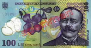 Billet 100 Lei Roumanie RON recto