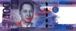 Billet 100 Peso Philippines PHP recto