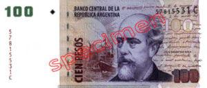 Billet 100 Pesos Argentine ARS Type I recto