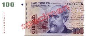 Billet 100 Pesos Argentine ARS Type II recto