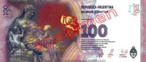Billet 100 Pesos Argentine ARS Type III verso