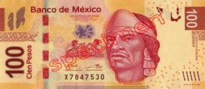 Billet 100 Pesos Mexique MXN Type I recto