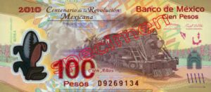Billet 100 Pesos Mexique MXN Type II recto