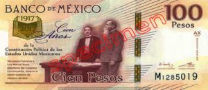 Billet 100 Pesos Mexique MXN Type III recto