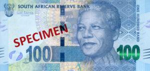 Billet 100 Rand Sud-Afrique ZAR recto