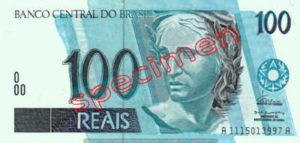 Billet 100 Real Bresil BRL Serie I recto