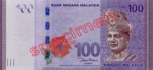 Billet 100 Ringgit Malaisie MYR Serie II recto