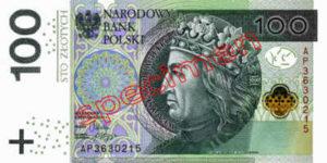 Billet 100 Zloty Pologne PLN Type II recto