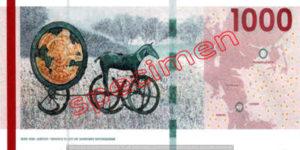Billet 1000 Couronnes Danemark DKK verso