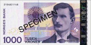 Billet 1000 Couronne Norvégienne NOK Serie VII