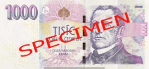 Billet 1000 Couronnes Rep Tcheque CZK recto