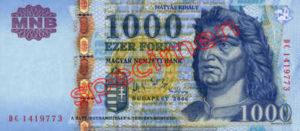 Billet 1000 Forint Hongrie HUF 2006 recto