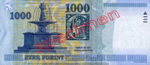 Billet 1000 Forint Hongrie HUF 2006 verso