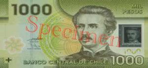 Billet 1000 Peso Chili CLP recto