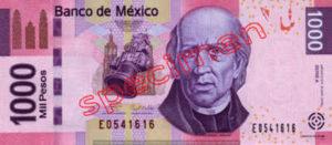 Billet 1000 Pesos Mexique MXN Type I recto