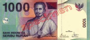 Billet 1000 Roupie Indonesie IDR