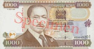 Billet 1000 Shilling Kenya KES 1994 recto