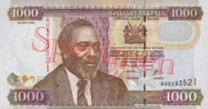 Billet 1000 Shilling Kenya KES 2003 recto