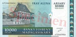 Billet 10000 Ariary Madagascar MGA 2003 recto