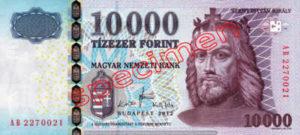 Billet 10000 Forint Hongrie HUF 2008 recto