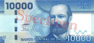 Billet 10000 Peso Chili CLP recto