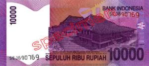Billet 10000 Roupie Indonesie IDR