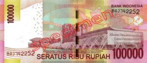 Billet 100000 Roupie Indonesie IDR