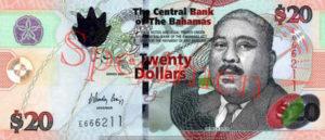 Billet 20 Dollar Bahamas BSD 2006 recto