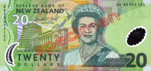 Billet 20 Dollar Nouvelle Zelande NZD Serie 6 recto
