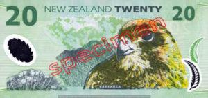 Billet 20 Dollar Nouvelle Zelande NZD Serie 6 verso