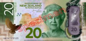 Billet 20 Dollar Nouvelle Zelande NZD Serie 7 recto