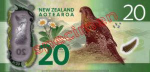 Billet 20 Dollar Nouvelle Zelande NZD Serie 7 verso