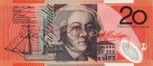 Billet 20 Dollar Australien AUD recto