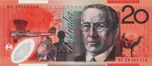Billet 20 Dollar AustralienAUD verso
