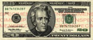 Billet 20 Dollars Etats-Unis USD
