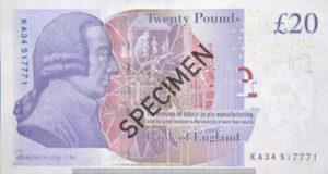Billet 20 Livres Sterling GBP