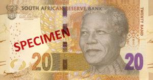Billet 20 Rand Sud-Afrique ZAR recto
