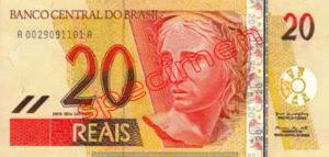 Billet 20 Real Bresil BRL Serie I recto