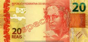 Billet 20 Real Bresil BRL Serie II recto