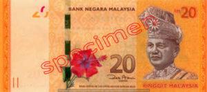 Billet 20 Ringgit Malaisie MYR recto