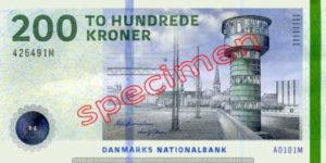 Billet 200 Couronnes Danemark DKK recto
