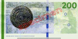 Billet 200 Couronnes Danemark DKK verso