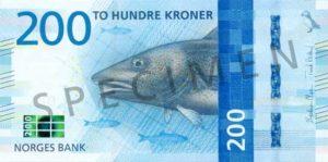 Billet 200 Couronne Norvégienne NOK Serie VIII recto