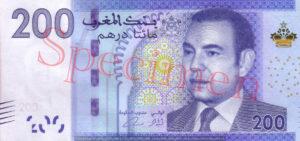 Billet 200 Dirhams Maroc MAD 2012 recto