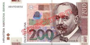 Billet 200 Kuna Croatie HRK recto