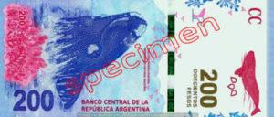 Billet 200 Pesos Argentine ARS recto